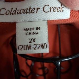 Coldwater Creek Tops - Coldwater Creek Short Sleeve Zipper Neck Top
